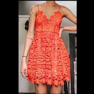 Fancy Red Lace Dress